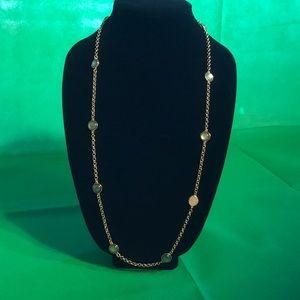 Banana Republic green stone necklace